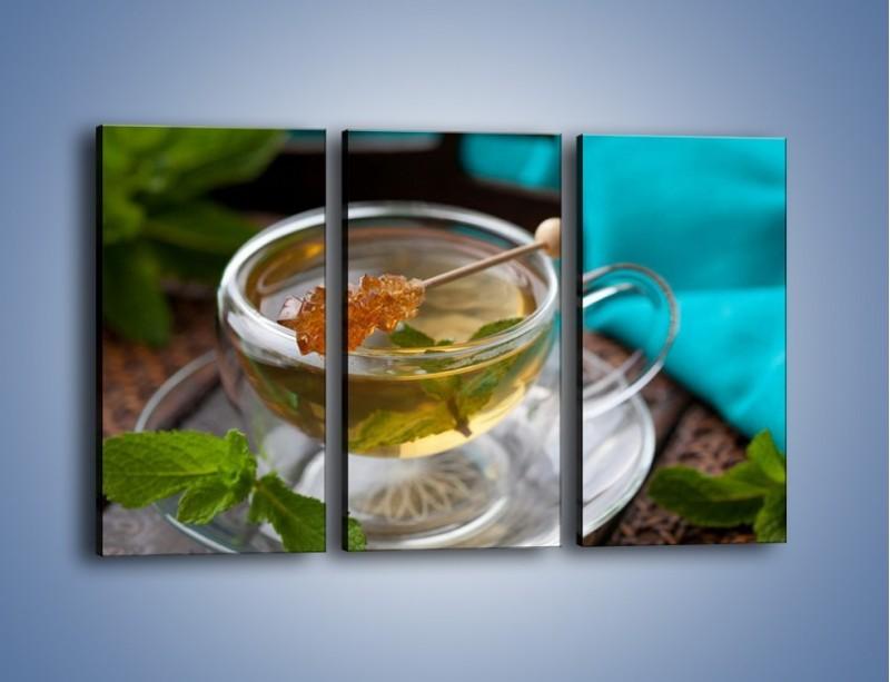 Obraz na płótnie – Oczyszczająca zielona herbata – trzyczęściowy JN104W2