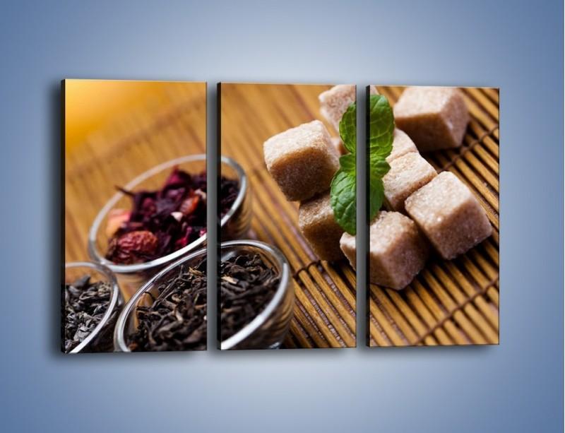 Obraz na płótnie – Ususzone bogactwa natury do herbaty – trzyczęściowy JN105W2