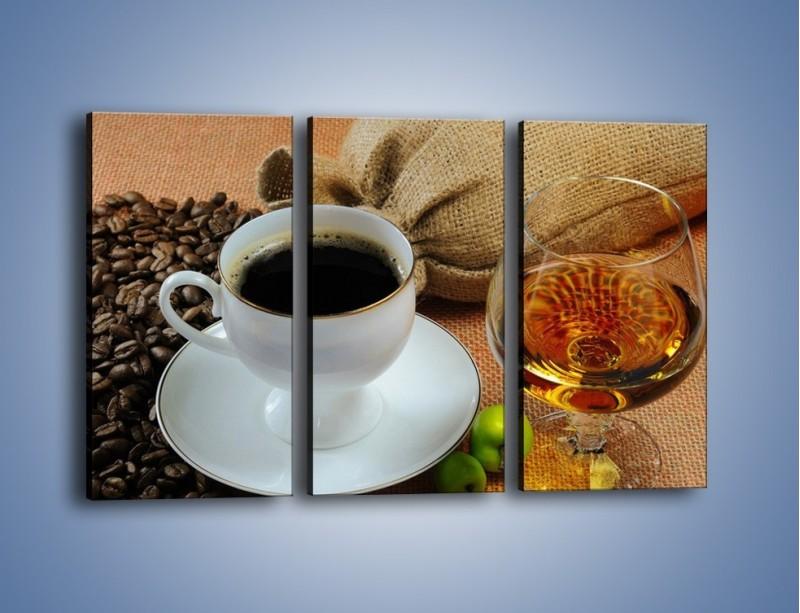 Obraz na płótnie – Wieczorowa kawa z prądem – trzyczęściowy JN166W2