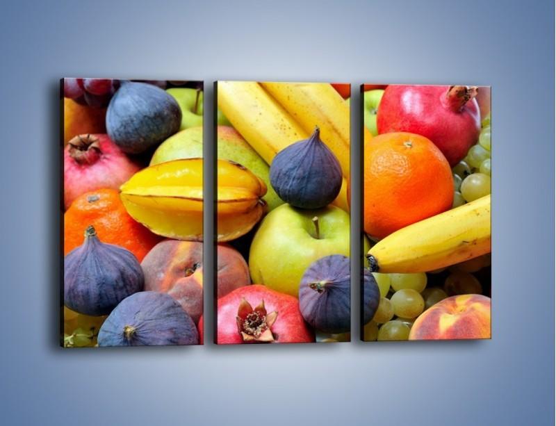 Obraz na płótnie – Owocowe kolorowe witaminki – trzyczęściowy JN173W2