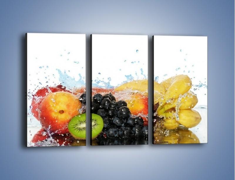 Obraz na płótnie – Owocowe nuty skąpane w wodzie – trzyczęściowy JN176W2