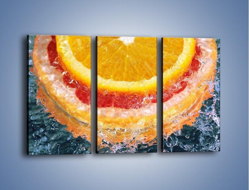 Obraz na płótnie – Cytrusowe trio – trzyczęściowy JN177W2