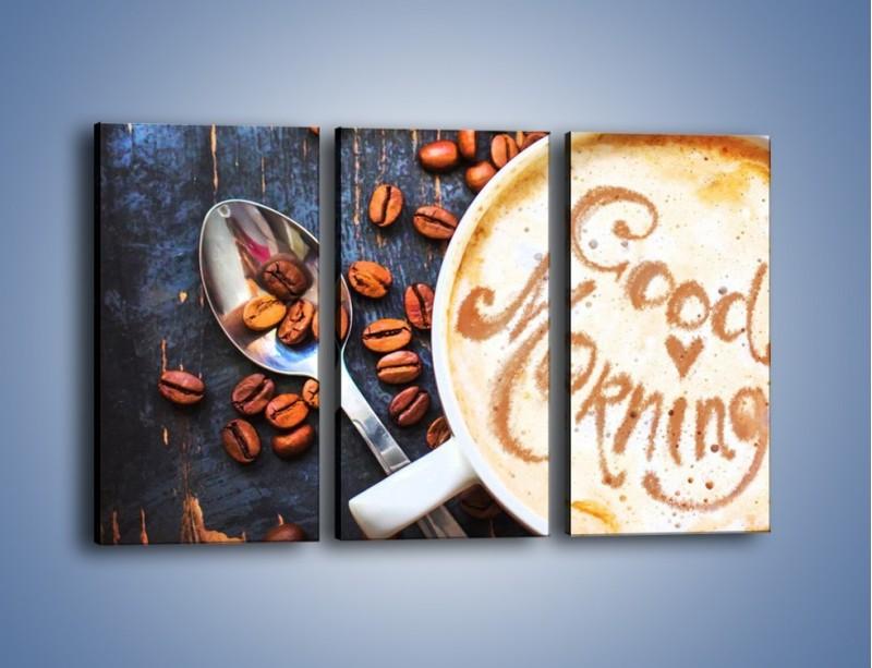 Obraz na płótnie – Kawa na miły początek dnia – trzyczęściowy JN180W2