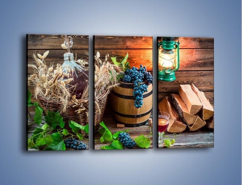 Obraz na płótnie – Wino według własnego przepisu – trzyczęściowy JN202W2
