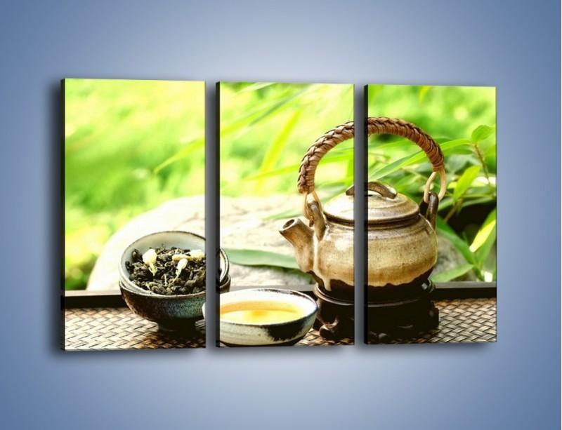 Obraz na płótnie – Herbata na świeżym powietrzu – trzyczęściowy JN249W2