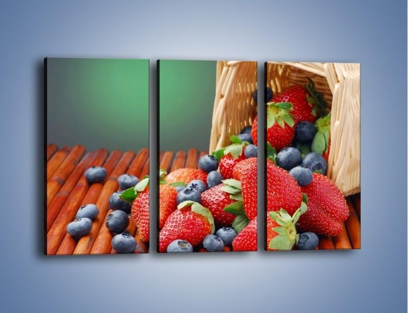 Obraz na płótnie – Truskawkowo-jagodowy obłęd – trzyczęściowy JN251W2