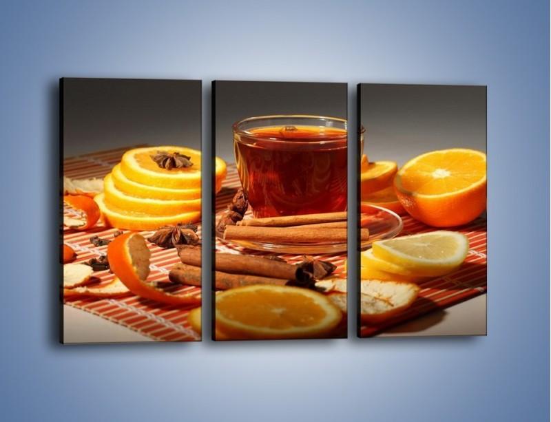 Obraz na płótnie – Imbirowo-pomarańczowe rozluźnienie – trzyczęściowy JN260W2