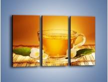 Obraz na płótnie – Delikatny smak herbaty – trzyczęściowy JN261W2