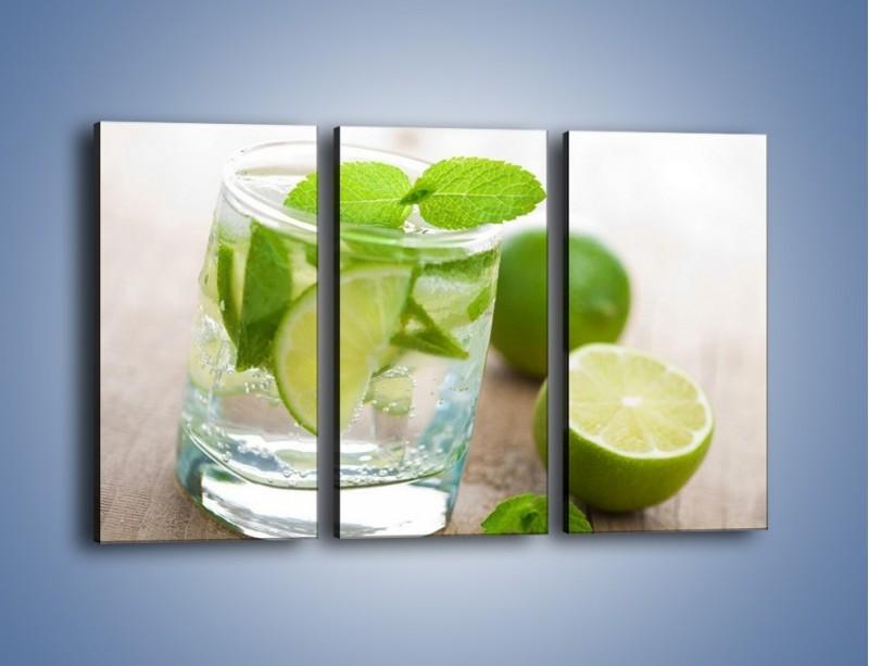 Obraz na płótnie – Limonkowy napój – trzyczęściowy JN262W2