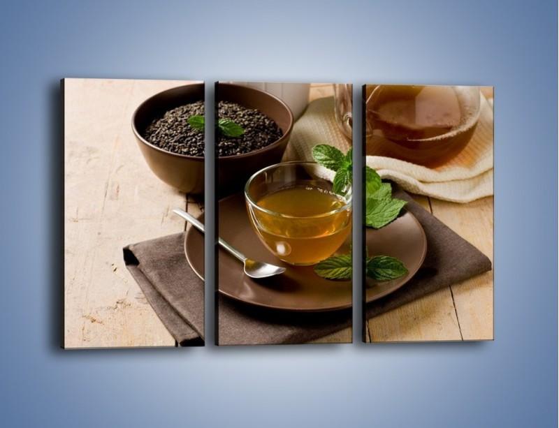 Obraz na płótnie – Filiżanka herbaty na poprawę humoru – trzyczęściowy JN264W2