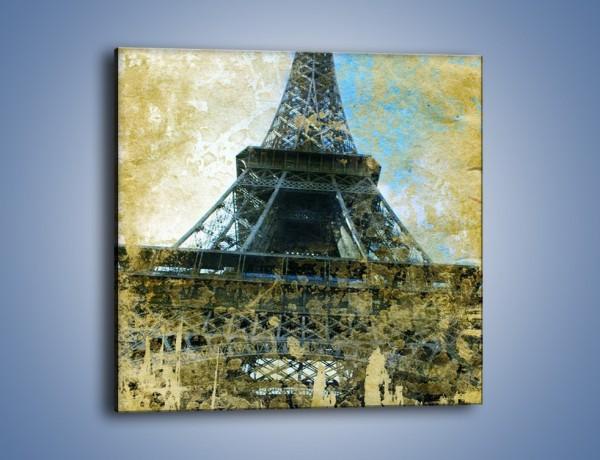 Obraz na płótnie – Wieża Eiffla w stylu vintage – jednoczęściowy kwadratowy AM035