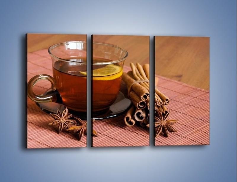Obraz na płótnie – Rozgrzewająca filiżanka herbaty – trzyczęściowy JN266W2