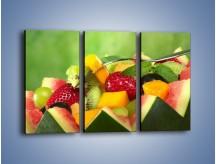 Obraz na płótnie – Arbuzowa misa z owocami – trzyczęściowy JN274W2