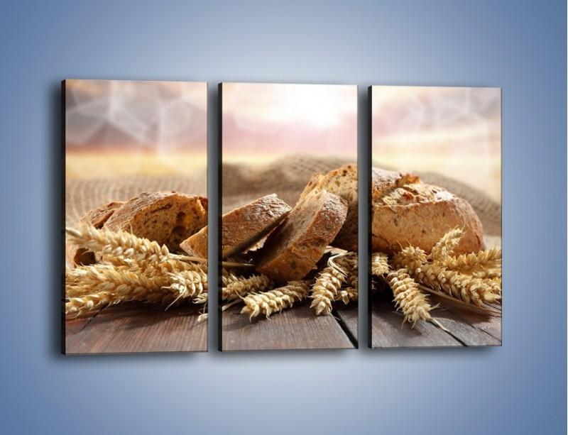 Obraz na płótnie – Świeży pszenny chleb – trzyczęściowy JN287W2