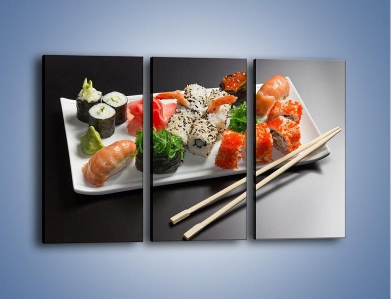 Obraz na płótnie – Kuchnia azjatycka na półmisku – trzyczęściowy JN295W2