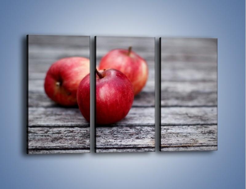 Obraz na płótnie – Jabłkowe zdrowie – trzyczęściowy JN296W2