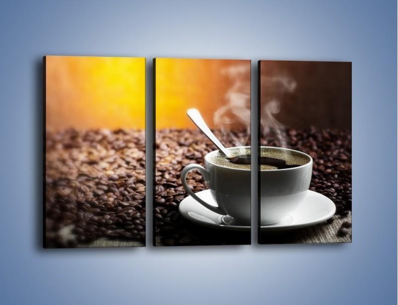 Obraz na płótnie – Aromatyczna filiżanka kawy – trzyczęściowy JN298W2