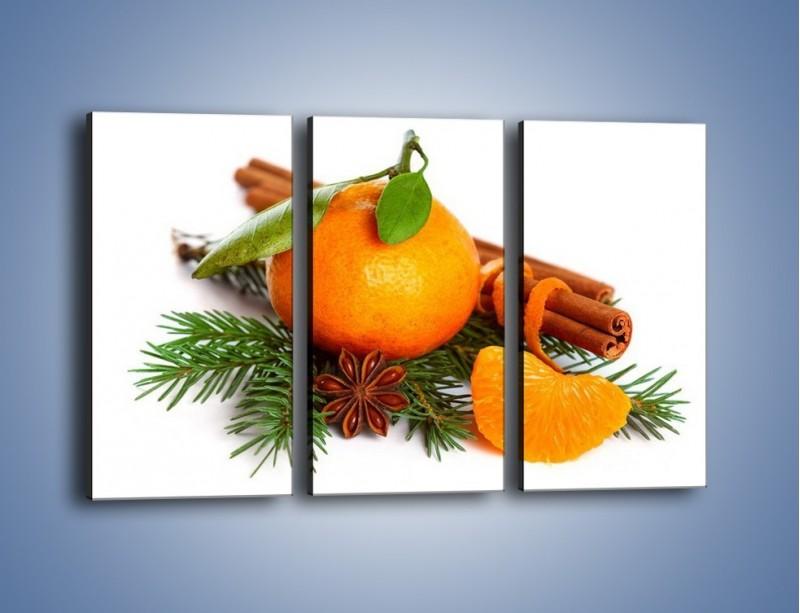 Obraz na płótnie – Pomarańcza na święta – trzyczęściowy JN306W2