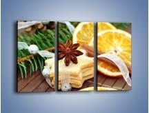Obraz na płótnie – Ciastka z pomarańczą – trzyczęściowy JN314W2