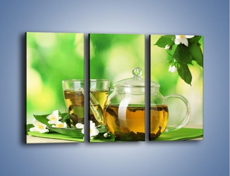 Obraz na płótnie – Herbaciane ukojenie – trzyczęściowy JN316W2