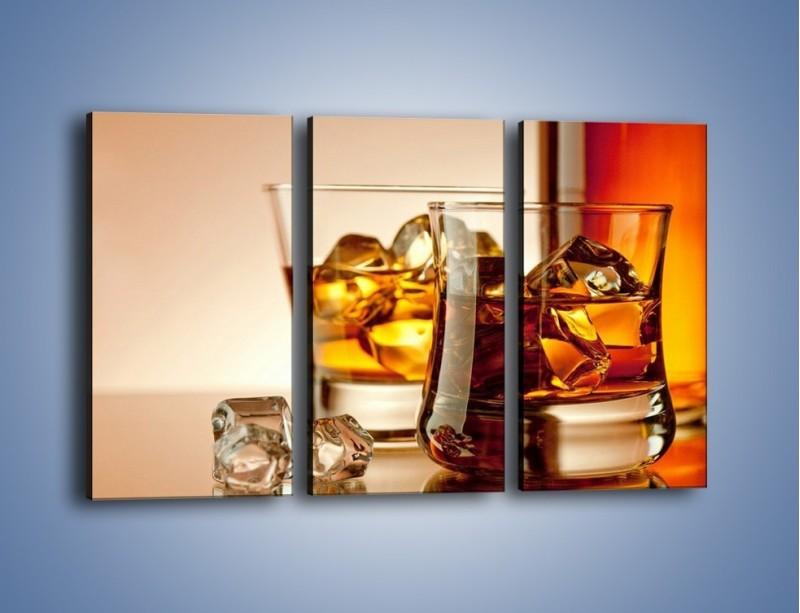 Obraz na płótnie – Męskie rozmowy przy whisky – trzyczęściowy JN318W2