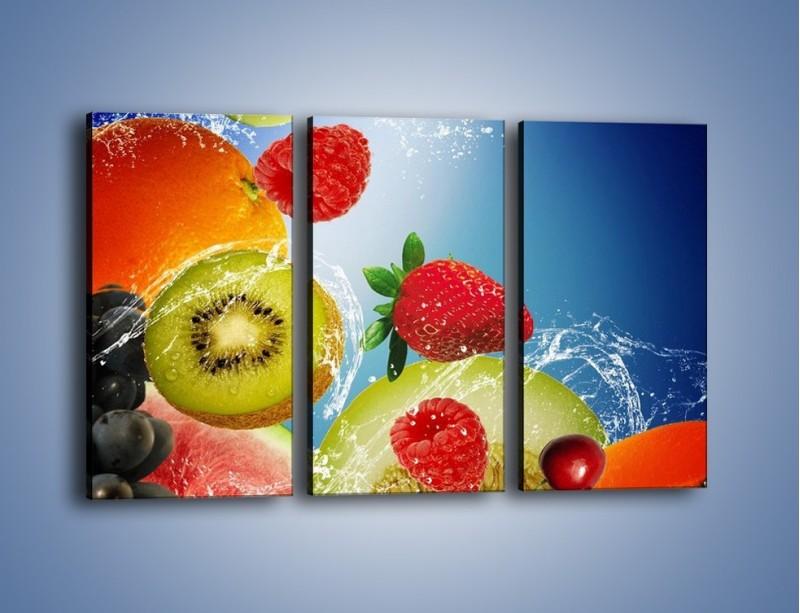 Obraz na płótnie – Owoce o poranku – trzyczęściowy JN331W2