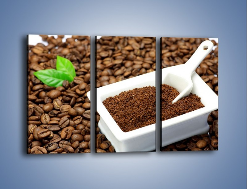 Obraz na płótnie – Zmielona kawa – trzyczęściowy JN340W2