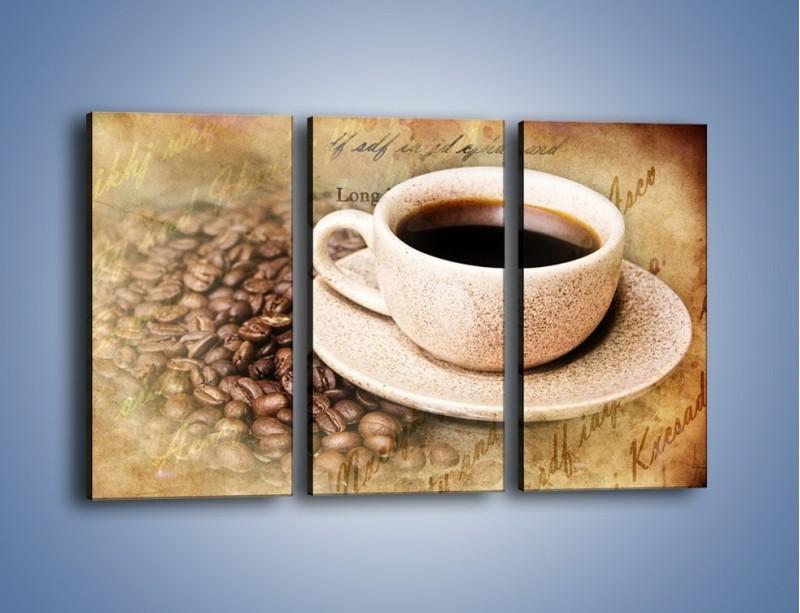 Obraz na płótnie – List przy filiżance kawy – trzyczęściowy JN347W2