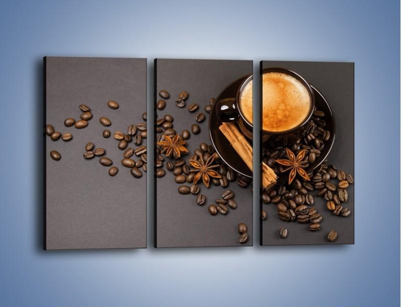 Obraz na płótnie – Kawa z goździkiem – trzyczęściowy JN349W2