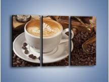 Obraz na płótnie – Czas na kawę – trzyczęściowy JN353W2