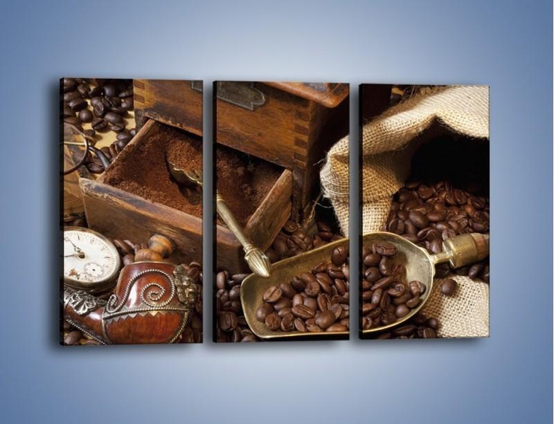 Obraz na płótnie – Szuflada pełna kawy – trzyczęściowy JN356W2