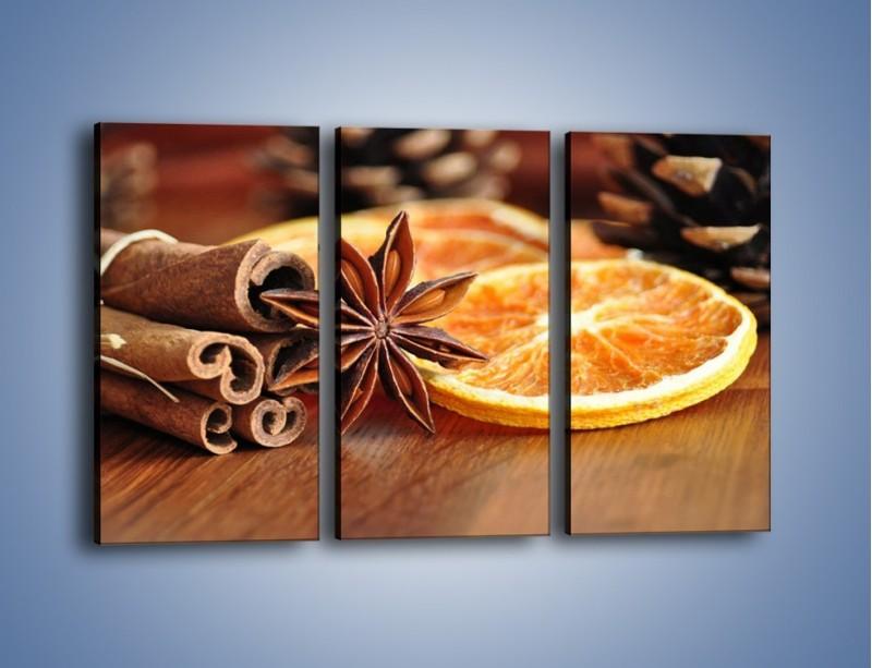 Obraz na płótnie – Pomarańcza z dodatkami – trzyczęściowy JN357W2