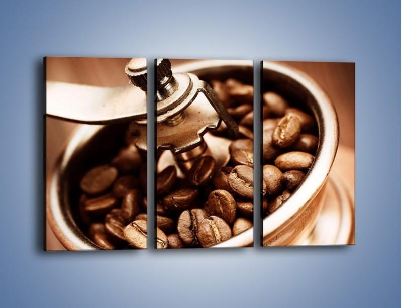 Obraz na płótnie – Kawa w młynku – trzyczęściowy JN361W2
