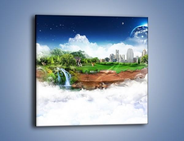 Obraz na płótnie – Raj ponad chmurami – jednoczęściowy kwadratowy GR297