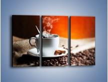 Obraz na płótnie – Aromatyczny zapach kawy – trzyczęściowy JN374W2