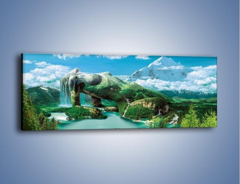 Obraz na płótnie – Przez kobietę na łono natury – jednoczęściowy panoramiczny GR134