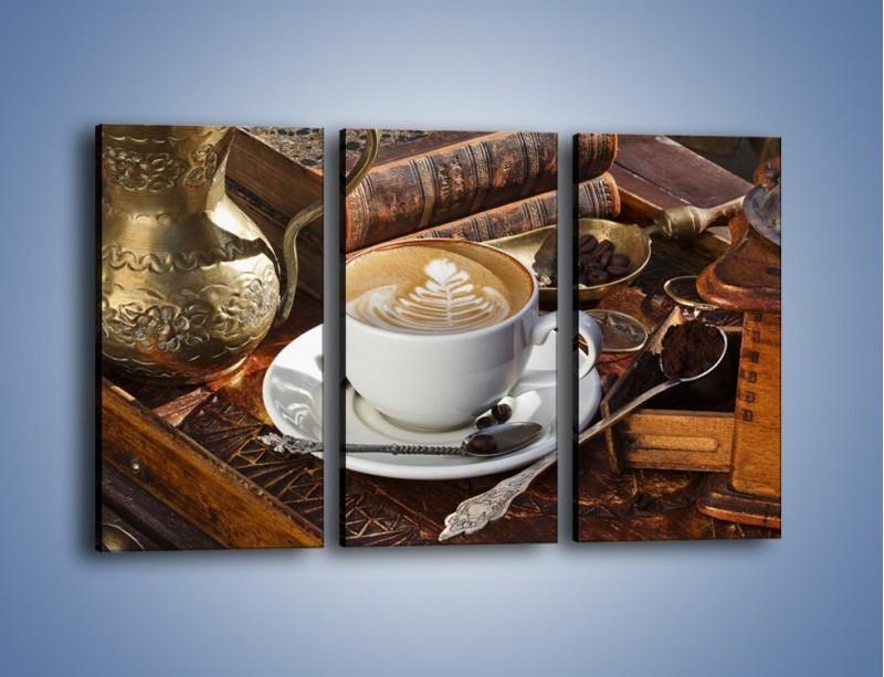 Obraz na płótnie – Wspomnienie przy kawie – trzyczęściowy JN377W2