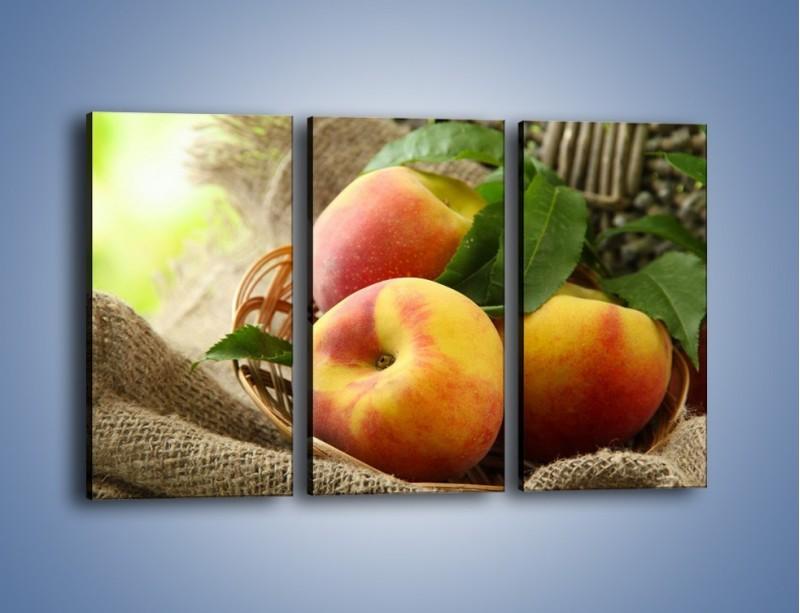 Obraz na płótnie – Dojrzałe jabłka w koszu – trzyczęściowy JN390W2