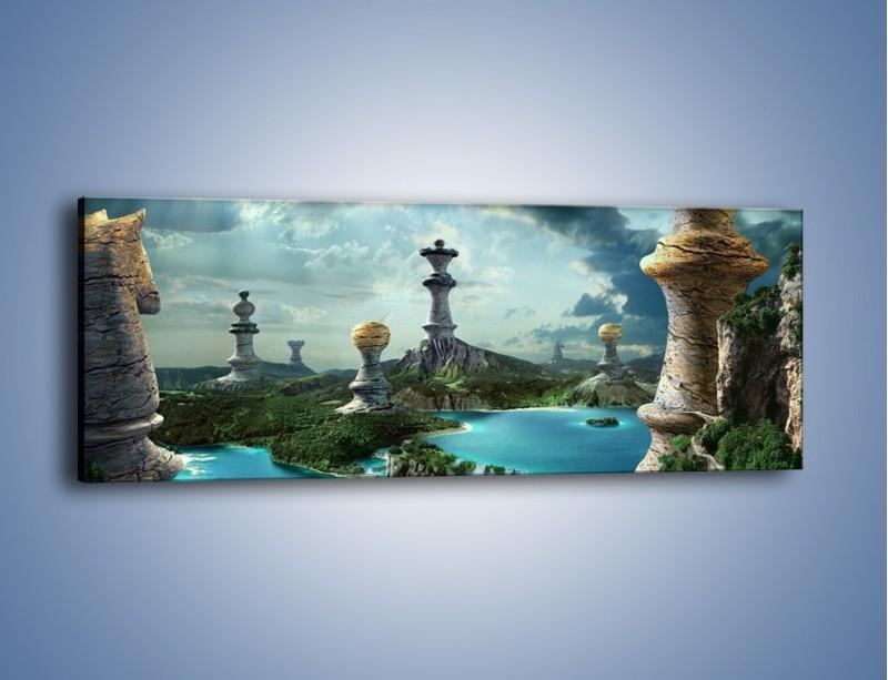 Obraz na płótnie – Potęga w szachach – jednoczęściowy panoramiczny GR136