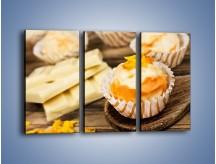 Obraz na płótnie – Babeczka z białej czekolady – trzyczęściowy JN428W2