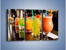 Obraz na płótnie – Barmańskie drinki – trzyczęściowy JN433W2
