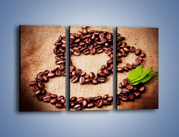 Obraz na płótnie – Wyraźny znak w kawie – trzyczęściowy JN444W2
