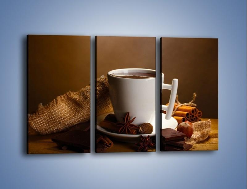 Obraz na płótnie – Gorąca czekolada z dodatkami – trzyczęściowy JN452W2