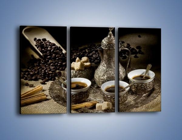 Obraz na płótnie – Tajemnicze opowieści przy kawie – trzyczęściowy JN455W2