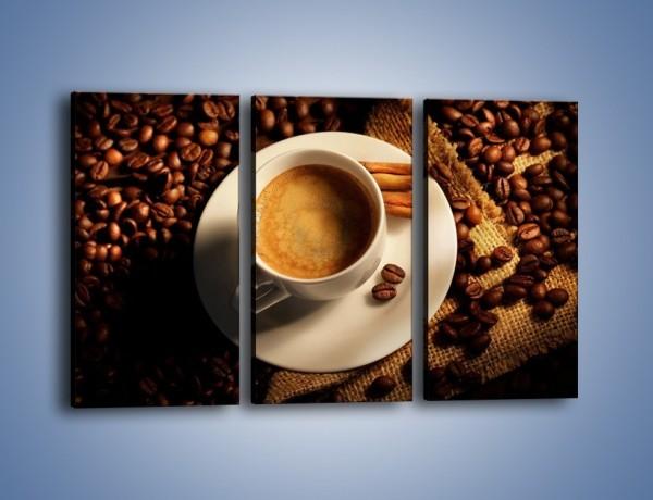 Obraz na płótnie – Tajemnicza historia z odrobiną kawy – trzyczęściowy JN475W2