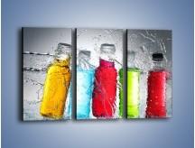 Obraz na płótnie – Alkohol zatopiony w wodzie – trzyczęściowy JN584W2