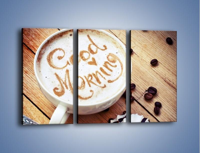Obraz na płótnie – Kawa z bezą – trzyczęściowy JN605W2