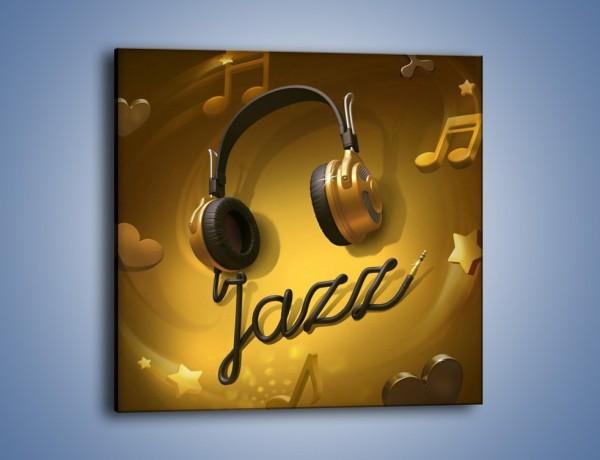 Obraz na płótnie – Złote nuty jazzu – jednoczęściowy kwadratowy GR305
