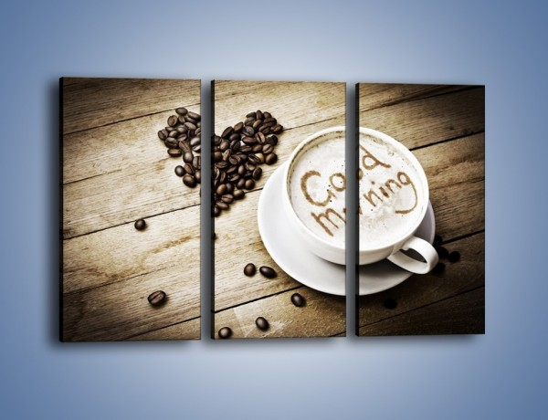 Obraz na płótnie – Z miłości do kawy – trzyczęściowy JN710W2