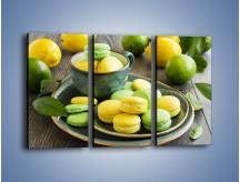 Obraz na płótnie – Cytrynowo-limonkowe ciasteczka – trzyczęściowy JN724W2